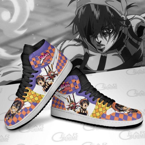 jojos bizarre adventure jordan sneakers narancia ghirga anime shoes gearanime 4 - Jojo's Bizarre Adventure Merch