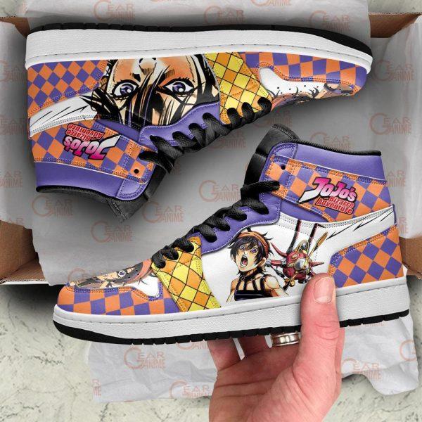 jojos bizarre adventure jordan sneakers narancia ghirga anime shoes gearanime 5 - Jojo's Bizarre Adventure Merch