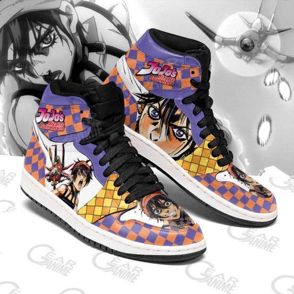 jojos bizarre adventure jordan sneakers narancia ghirga anime shoes gearanime - Jojo's Bizarre Adventure Merch