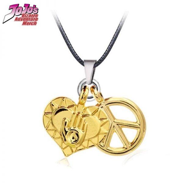 josuke heart and peace necklace jojos bizarre adventure merch 347 - Jojo's Bizarre Adventure Merch