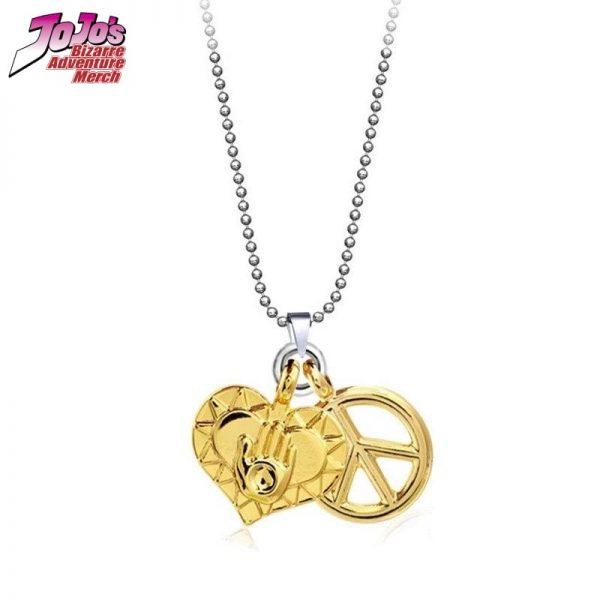 josuke heart and peace necklace jojos bizarre adventure merch 656 - Jojo's Bizarre Adventure Merch