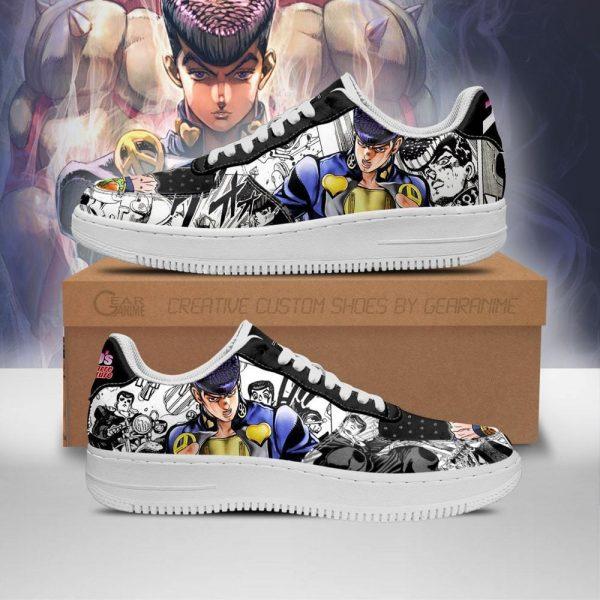 josuke higashikata air force sneakers manga style jojos anime shoes fan gift pt06 gearanime - Jojo's Bizarre Adventure Merch