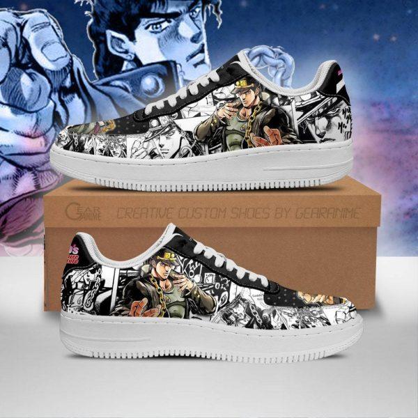 jotaro kujo air force sneakers manga style jojos anime shoes fan gift pt06 gearanime - Jojo's Bizarre Adventure Merch