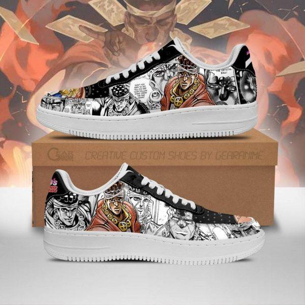 muhammad avdol air force sneakers manga style jojos anime shoes fan gift pt06 gearanime - Jojo's Bizarre Adventure Merch