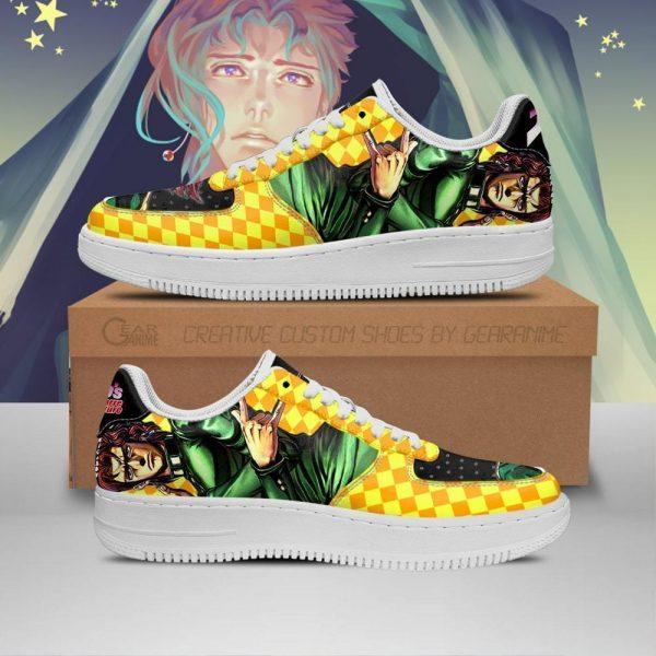 noriaki kakyoin air force sneakers jojo anime shoes fan gift idea pt06 gearanime - Jojo's Bizarre Adventure Merch