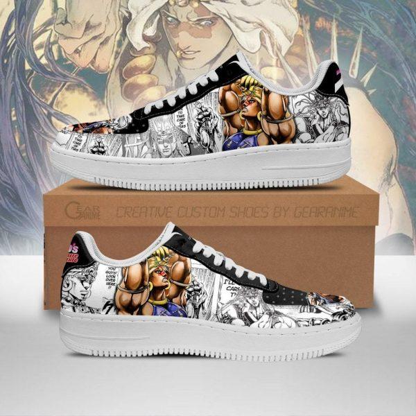 wamuu air force sneakers manga style jojos anime shoes fan gift idea pt06 gearanime - Jojo's Bizarre Adventure Merch
