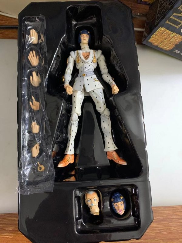 15cm Anime JoJos Bizarre Adventure Diavolo Bruno Bucciarati Giorno Giovanna Leone Abbacchio Kujo Jotaro Movable Action 2 - Jojo's Bizarre Adventure Merch