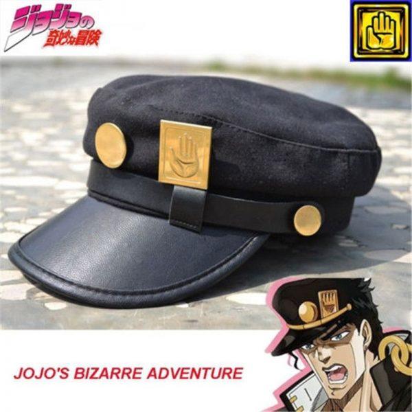 Anime JoJo s Bizarre Adventure Cosplay Cap Jotaro Kujo Joseph Hat Army Military JOJO Caps Hats - Jojo's Bizarre Adventure Merch