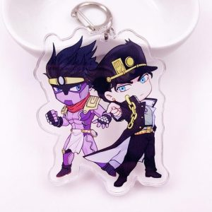 JoJo's Bizarre Adventure - Jotaro Kujo and Star Platinum Chibi Keychain Jojo's Bizarre Adventure Merch