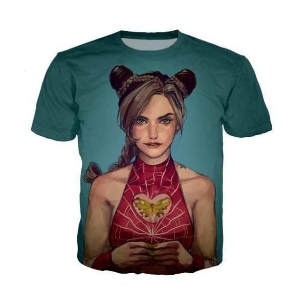 JoJo's Bizarre Adventure - Jolyne Cujoh T-shirt-jojo Jojo's Bizarre Adventure Merch