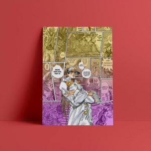JoJo's Bizarre Adventure - Jotaro Kujo Part 4 Wall Art Jojo's Bizarre Adventure Merch