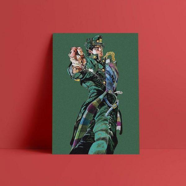 JoJo's Bizarre Adventure - Jotaro Kujo Pose Wall Art Jojo's Bizarre Adventure Merch