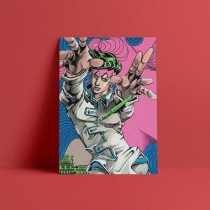 JoJo's Bizarre Adventure - Rohan at the Louvre Wall Art Jojo's Bizarre Adventure Merch