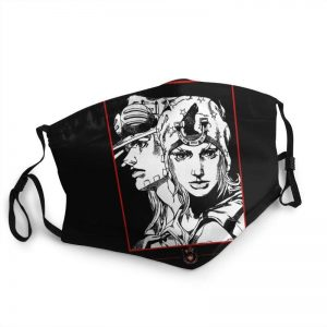 JoJo's Bizarre Adventure - Gyro Zeppeli x Johnny Joestar Face Mask Jojo's Bizarre Adventure Merch