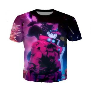 JoJo's Bizarre Adventure - Jotaro Kujo Purple T-shirt-jojo Jojo's Bizarre Adventure Merch