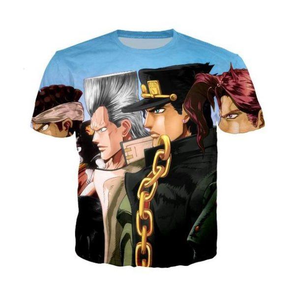JoJo's Bizarre Adventure  Stardust Crusaders Group T-Shirt Jojo's Bizarre Adventure Merch
