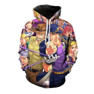 JoJo's Bizarre Adventure  Main Characters Hoodie Jojo's Bizarre Adventure Merch
