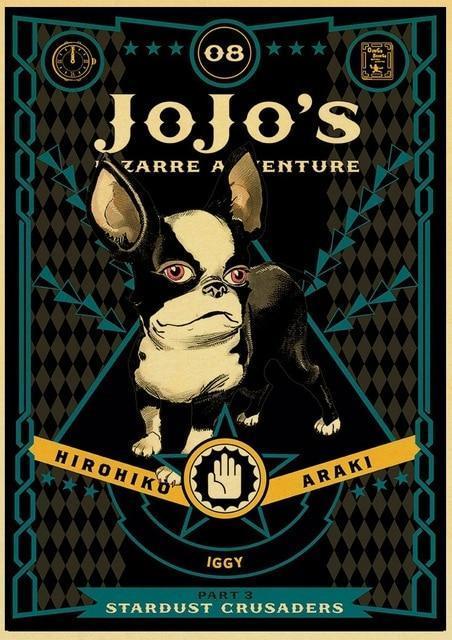 JoJo's Bizarre Adventure - Stardust Crusaders Iggy Poster Jojo's Bizarre Adventure Merch