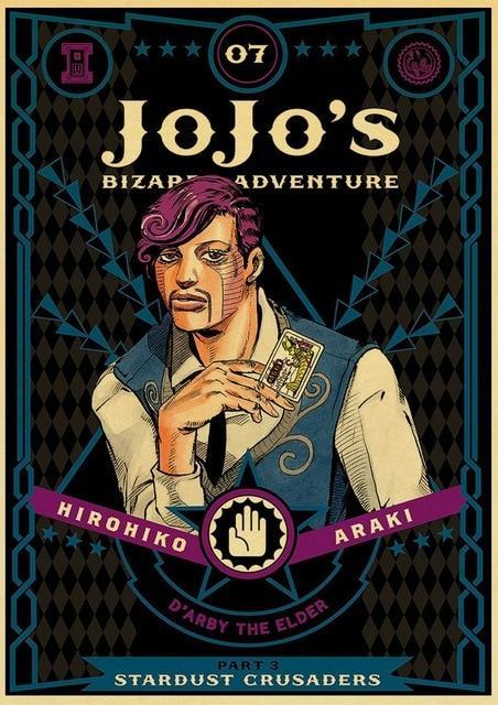 JoJo's Bizarre Adventure - Stardust Crusaders Manga Poster Jojo's Bizarre Adventure Merch