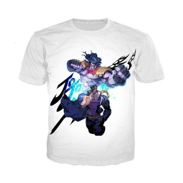 JoJo's Bizarre Adventure  Jotaro Star Platinum T-Shirt Jojo's Bizarre Adventure Merch