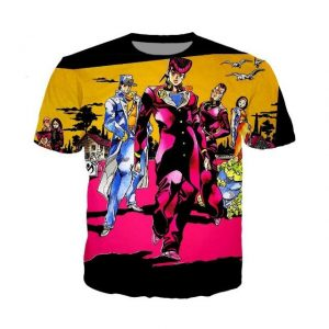 JoJo's Bizarre Adventure  Diamond is Unbreakable Stylish T-Shirt Jojo's Bizarre Adventure Merch