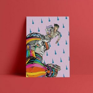 JoJo's Bizarre Adventure - Rohan Kishibe and Heaven's Door Wall Art Jojo's Bizarre Adventure Merch