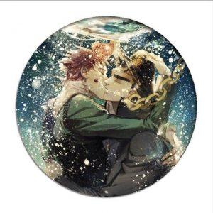 JoJo's Bizarre Adventure - Jotaro Kujo x Noriaki Kakyoin Kissing Pin Jojo's Bizarre Adventure Merch