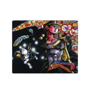JoJo's Bizarre Adventure - Jotaro and Iggy Mouse Pad Jojo's Bizarre Adventure Merch