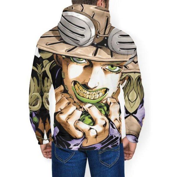 JoJo's Bizarre Adventure - Gyro Zeppeli Teeth Hoodie Jojo's Bizarre Adventure Merch