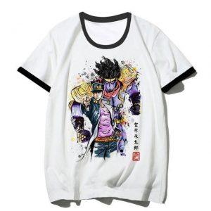 JoJo's Bizarre Adventure - Jotaro x Star Platinum T-shirt-jojo Jojo's Bizarre Adventure Merch