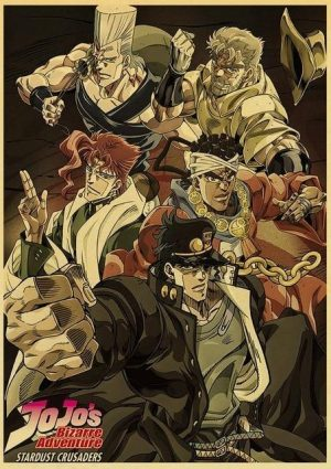 JoJo's Bizarre Adventure - Stardust Crusaders Poster Jojo's Bizarre Adventure Merch