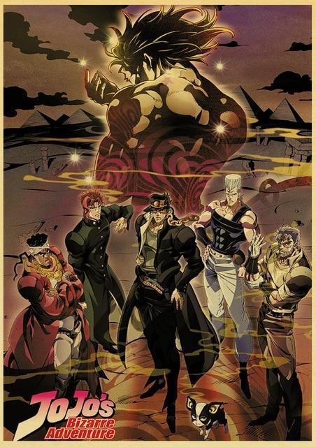 JoJo's Bizarre Adventure - Stardust Crusaders Main Characters Poster Jojo's Bizarre Adventure Merch