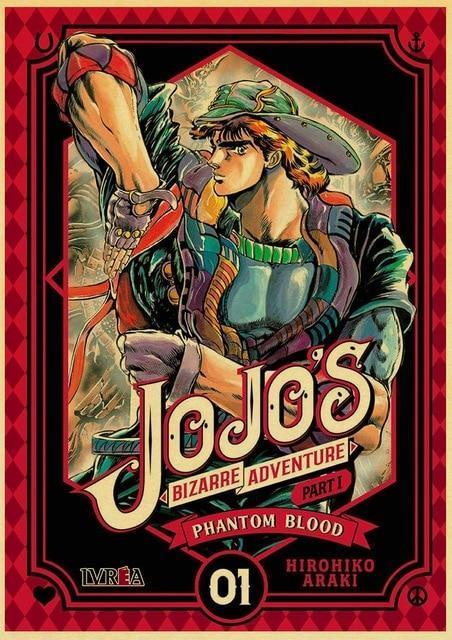JoJo's Bizarre Adventure - Phantom Blood Jonathan Joestar Pose Poster Jojo's Bizarre Adventure Merch