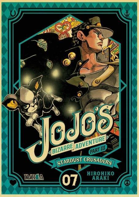 JoJo's Bizarre Adventure - Jotaro Kujo x Iggy Stardust Crusaders Poster Jojo's Bizarre Adventure Merch