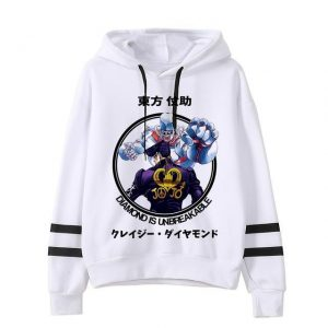 JoJo's Bizarre Adventure - Josuke Higashikata x Crazy Diamond Hoodie Jojo's Bizarre Adventure Merch