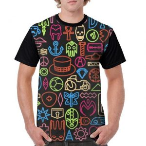 JoJo's Bizarre Adventure  Multi-color Symbols T-Shirt Jojo's Bizarre Adventure Merch