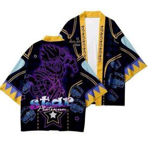 JoJo's Bizarre Adventure - Star Platinum Punch Kimono Jojo's Bizarre Adventure Merch